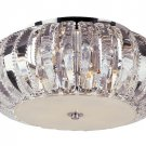 "Trans Globe Braided Crystal 14"" FlushMount Ceiling Light MDN-1057"