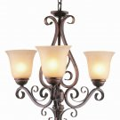 Trans Globe Antique Brown and Rust Chandelier 7793ABR
