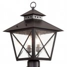 Trans Globe Black Chimney Outdoor Post Top Lantern 40173BK