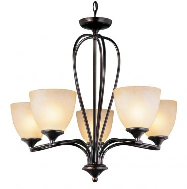 Trans Globe Oil Rubbed Bronze Five Light Chandelier 70375ROB