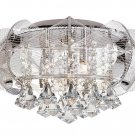 Trans Globe Modern Flared Crystal 16&quot; Flushmount MDN-1121