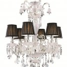 Trans Globe Traditional Crystal Six Light Chandelier HK-6PC