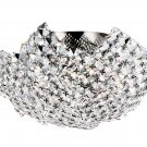 Trans Globe Modern Crystal Basket 16&quot; Flushmount MDN-1134