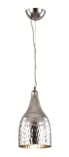 Trans Globe Hammered Chrome Adjustable Pendant PND-963