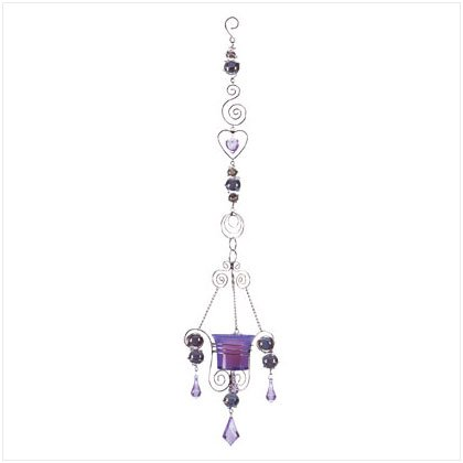 Purple Drop Candlepiece