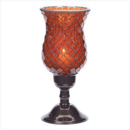 Amber Mosaic Candleholders