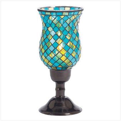 Turquoise Mosaic Candleholders