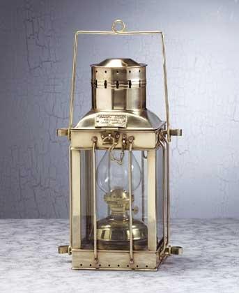 Solid Brass Kerosene Cargo Lantern