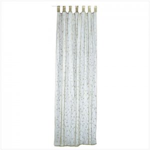 Green Embroidered Curtain - E