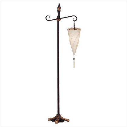 Hanging Spiral Shade Floor Lamp - E