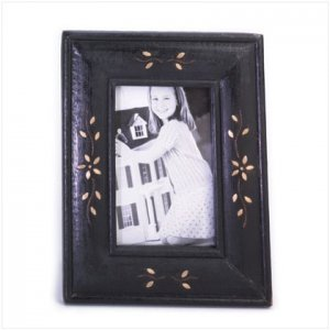 Floral Inlay Photo Frame - D