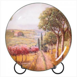 Tuscan Countryside Ceramic  Plate - D