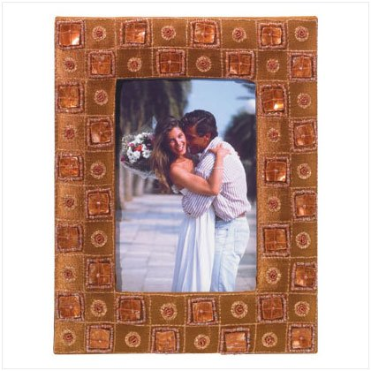 Brown Bejeweled Photo Frame