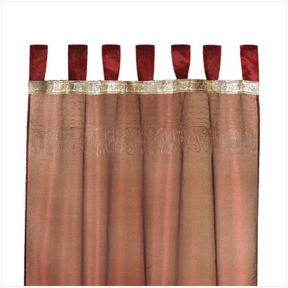 Imperial Burgundy and Gold Curtains - E