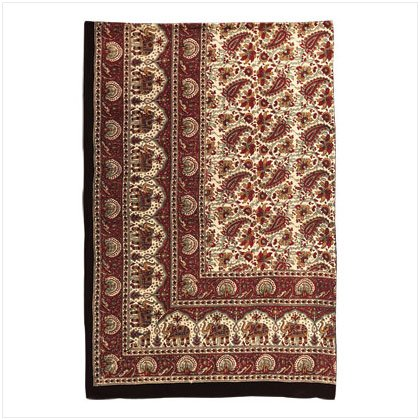 Burgunday Indian-Inspired Throw - D
