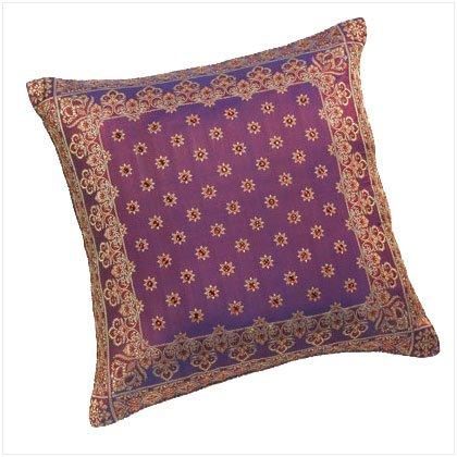 Golden Jacquard Throw Pillow