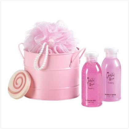 Tickled Pink Bath Bucket Set