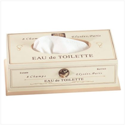 Eau De Toilette Tissue Box