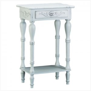 Carved White Table - E