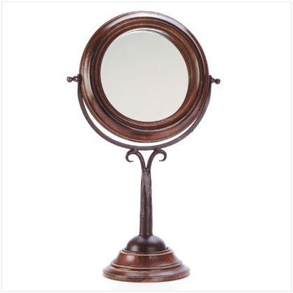 Elegant Reflections Pedestal Mirror