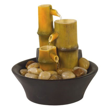 Bamboo Inspired Tabletop Fountain