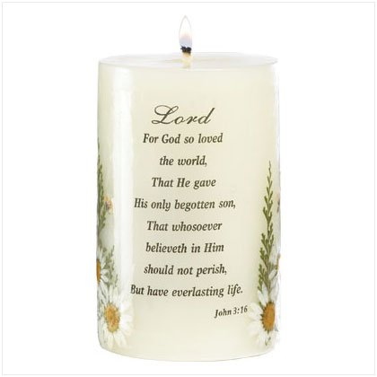 Bible Blessing Candle - D
