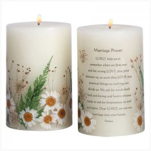 Marriage Prayer Candle - D