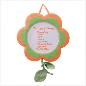 Fancy Flower Dry Erase Board - D