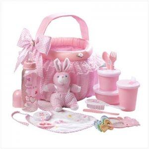 Pink Baby Gift Basket Set - D