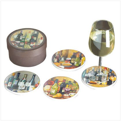 Wine Sampler Coaster Set - D