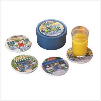 French Cafe Coaster Set - D