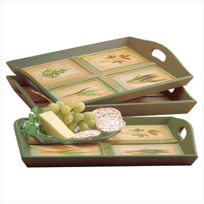 Garden Design Serving Trays - D