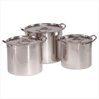 Stainless Steel Stock Pot Set - D