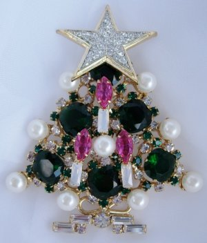 Designer Christmas Tree pin star