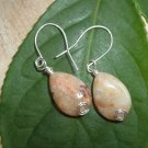 Sterling silver and Moroccan agate earrings