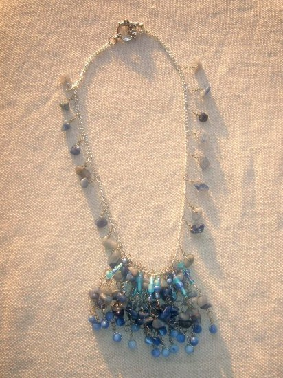 Blue Cascade necklace