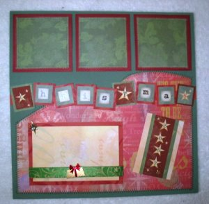 Christmas - Elegant 2-Page 12X12 Premade Scrapbook Layout