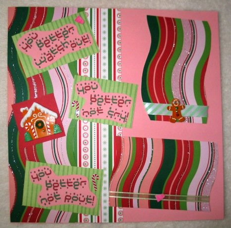 """Christmas - """"You Better Watch Out""""  2-Page 12x12 Premade Scrapbook Layout"""