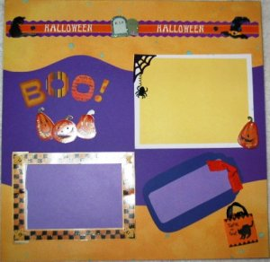 HAPPY HALLOWEEN 2-Page 12X12 Premade Scrapbook Layout