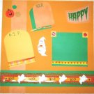 HALLOWEEN - GHOSTS 2-Page 12X12 Premade Scrapbook Layout