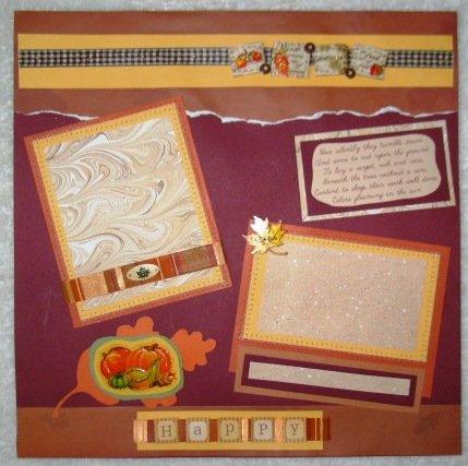 ELEGANT THANKSGIVING 2-Page 12 x 12 Premade Scrapbook Layout