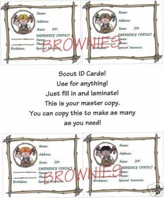 Brownie ID Cards