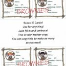Brownie ID Cards