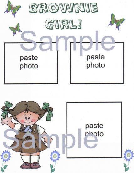 Brownie Scrapbook Page