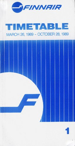 FINNAIR - FINNISH AIRLINES - 1989 SYSTEM TIMETABLE