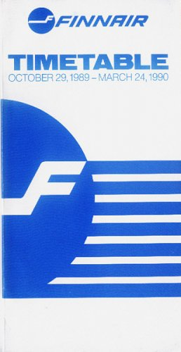 FINNAIR - FINNISH AIRLINES - 1989-90 SYSTEM TIMETABLE