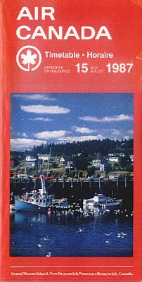 AIR CANADA - 1987 SYSTEM TIMETABLE