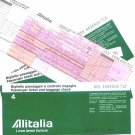 ALITALIA - 1981 FAR EAST 4 TICKET SET