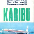 KENYA AIRWAYS - 1984 KARIBU - USEFUL SWAHILI WORDS  BROCHURE