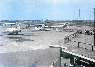 ALITALIA - ATI - ALISARDA - 1977 MILANO LINATE AIRPORT POSTCARD